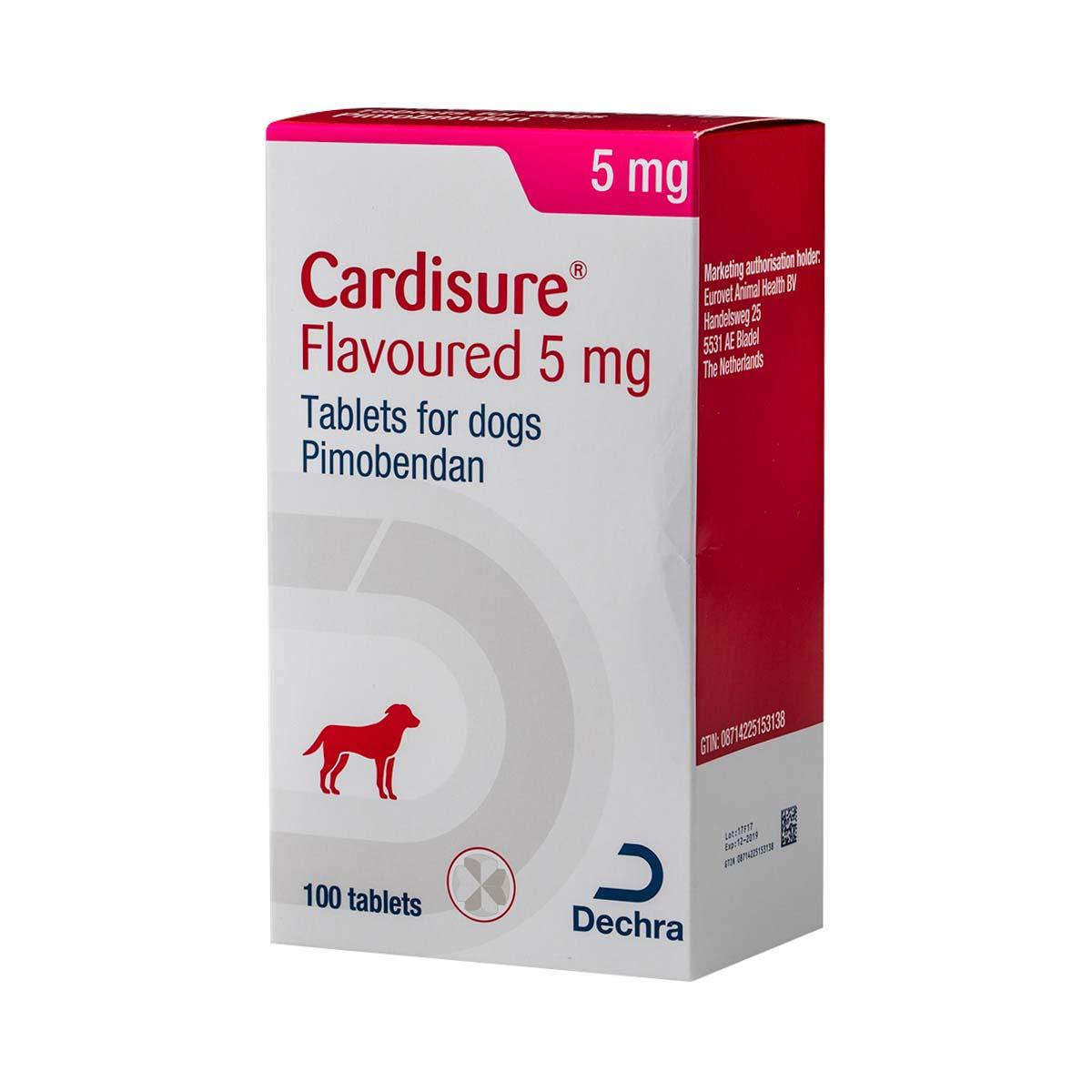 cardisure flavoured tablets 5mg shop now at pet drugs online