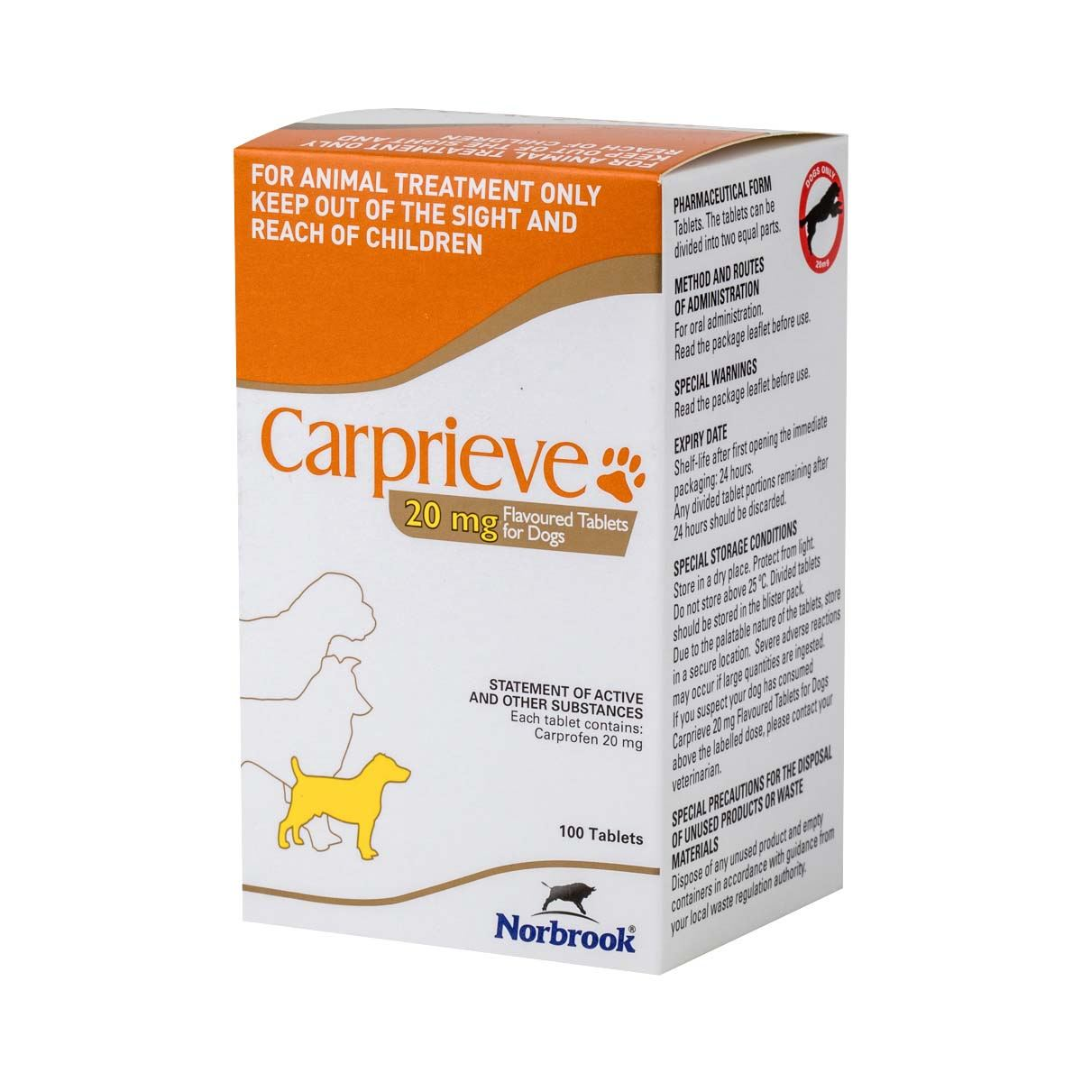 Carprieve Flavoured 20mg Shop Now And Save At Pet Drugs Online Equal Tablets