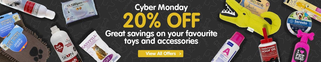 View our Cyber Monday Dog Offers!
