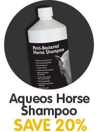 Save 20% On Aqueos Horse Shampoo